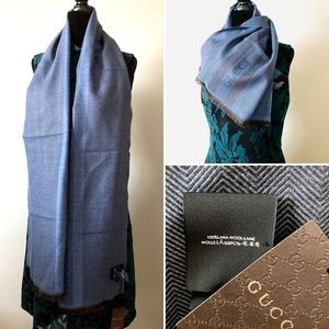 AUTHENTIC GUCCI WOOL SCARF